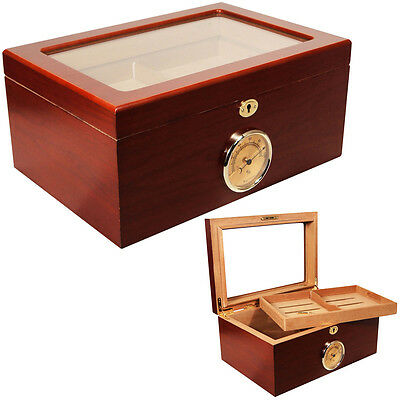 PRESIDENT CIGAR HUMIDOR GLASS TOP HUMIDOR 100 CAPACITY