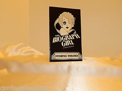 Playbill The Biograph Girl, 1980 Phoenix Theatre London Production