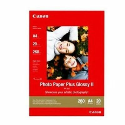 Canon PIXMA PP-201 (A4) 275g/m2 Plus Glossy II Photo Paper (White) 1 Pack of 20