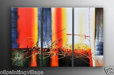 Abstract Oil Painting on STRETCHED Canvas Modern Art Decor Swirls
