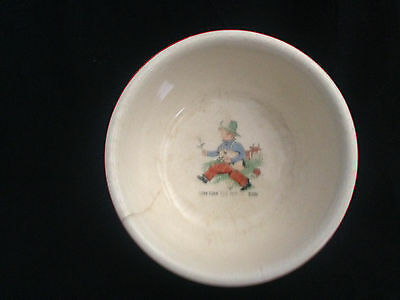 VINTAGE TOM TOM THE PIPERS SON NURSERY RHYME CHILDS BABY DISH BOWL
