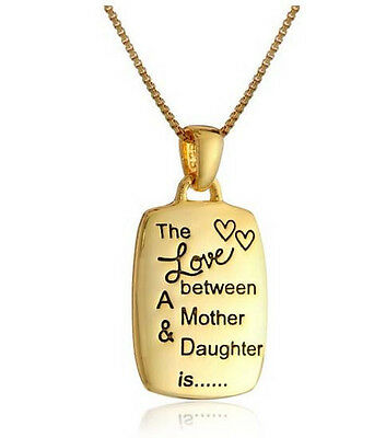 """""""The Love between A Mother & Daughter is"""" Pendant Necklace Jewelry Gift for Mom"""