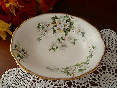 Rare Vintage Large Oval  Bowl  White Dogwood  By   Royal Albert  England