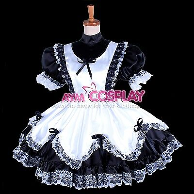 special offer-Sissy Maid Satin dress lockable costume Tailor-made [G281]