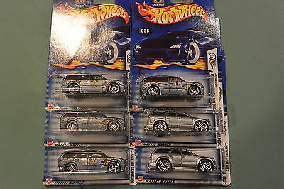 Hot Wheels  2003 LOT of 6  FIRST EDITIONS GREY BOOM BOX #35