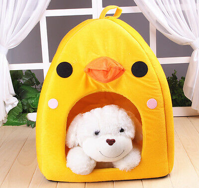 WINTER WARM Outdoor DUCK Pet Kennel Bed Cozy Dog Cat Puppy bed Durable House S