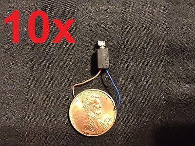 10x Pager and Cell Phone Vibrating Micro Motor 1 - 3VDC 4mm * 8mm dc Vibrator A
