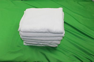 GRANDEUR HOSPITALITY - LOT OF 6 TOWELS  WHITE 100% COTTON
