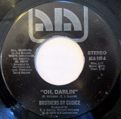 """Brothers By Choice """"Oh, Darlin'""""-ALA Records-Modern Soul 45 rpm"""