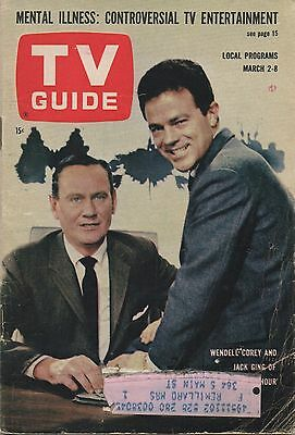 1963 TV GUIDE Wendell Corey Jack Ging 'The Eleventh Hour' March 2-8