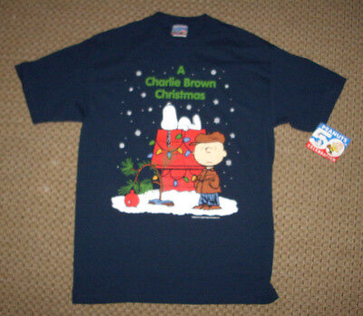 A Charlie Brown Christmas with Snoopy * 50th Celebration * Mens MED T-Shirt NWT