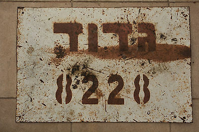 Rare Israel Army IDF Zahal METAL SIGN tin plate regiment battalion collectable