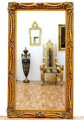 MIROIR BAROQUE DORE ROCAILLE 138x78cm GLACE STYLE LOUIS XV ROCOCO CHEMINEE
