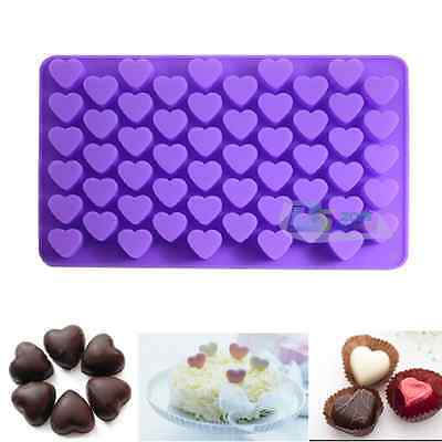 Food-graded Silicone 55 Mini Hearts Chocolate Mould Soap Jelly Candy Baking Mold