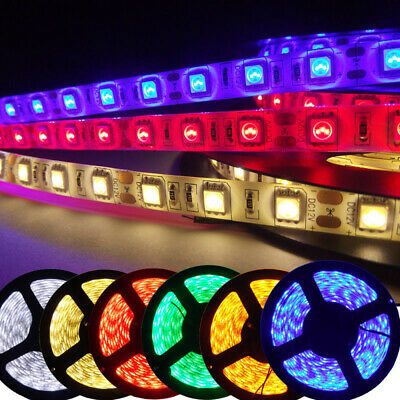 5M 300LED 5050 SMD Wasserdicht RGB LED Stripe Band Leiste Streifen  Deko DC 12V