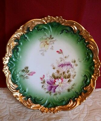"""Antique Bavarian China Germany handpainted plate. 8"""" Gorgeous and Pristine."""