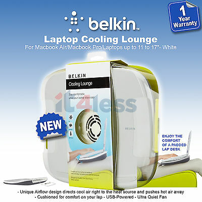 Belkin  Laptop / MacBook Cooling Lounge / Pad  Foamed Cushioned  up to 17'' NEW
