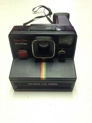 Vintage Polaroid One Step Land Camera Rainbow Stripe