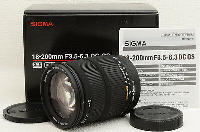 SIGMA AF 18-200mm f/3.5-6.3 DC OS Lens for Canon [Excellent] from Japan (06-G05)