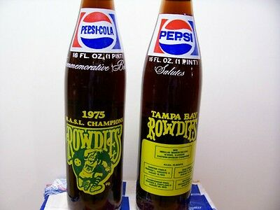 Pepsi--Tampa Bay Rowdies-1975 champs  cola bottle