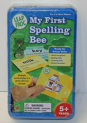 NEW Leap Frog - MY FIRST SPELLING BEE GAME - Cards Chips Tin - Cardinal (2005)