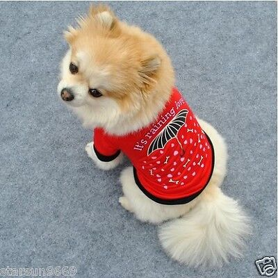 Pet Puppy Summer Dog Vest Small Dog Pet Clothes Vest T Shirt Dress Size XS -40