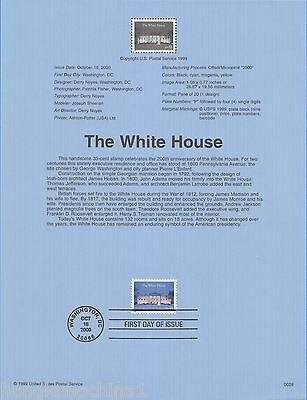 USA Stamp FDC: 2000 The White House US135192