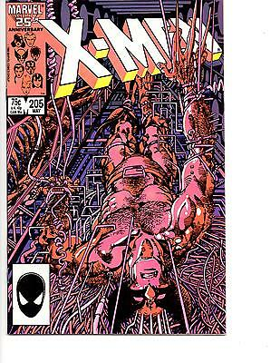 UNCANNY X-MEN 202-225 VF/NM (205,207,213) WOLVERINE FALL OF THE MUTANTS