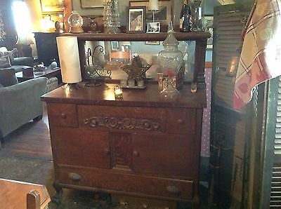 ANTIQUE MIRRORED MAHOGANY SIDEBOARD