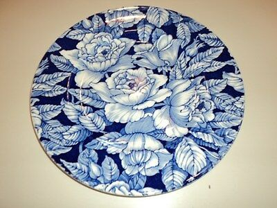 MYOTT SON & CO. SALAD PLATE/ BERMUDA BLUE AND WHITE PATTERN