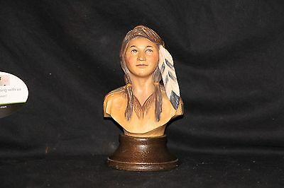 Anri Woodcarving Indian Boy Made in italy  numbered 16 / 2000 Edward Rohn