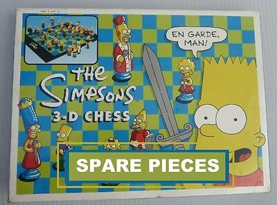 The Simpsons 3D Chess Game .. Spare Playing Pieces
