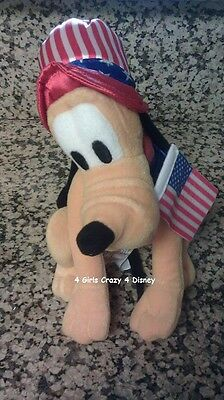 Disney Pluto dressed for 4th of July Beanie with No  tags Retired Vintage