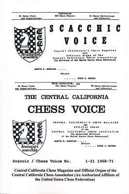 Scaccic / Chess Voice No. 1-21 - 1968-1971 (Chess Book)