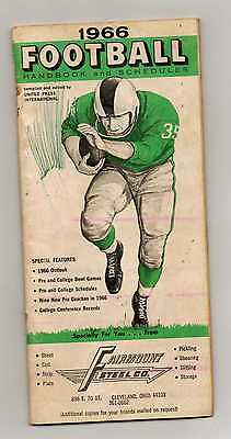 1966 NFL OFFICIAL SCHEDULE BOOK- GREAT PHOTOS, VG CONDITION SAYERS,NAMATH