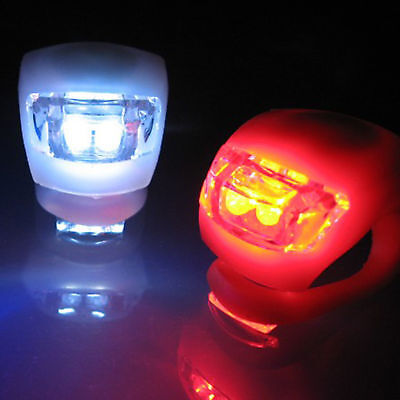 Frog Bike Light Set White Front Light 2 LEDs + Red Rear Light 2 LEDs Easy to Use