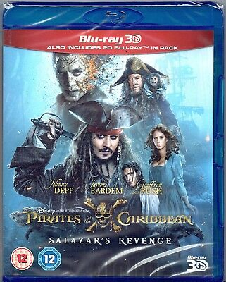 PIRATES OF THE CARIBBEAN 5 Dead Men Tell No Tales Blu ray 3D