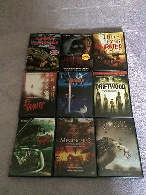 Horror Dvd Lot , 9 Dvds Total Great Titles Low Price