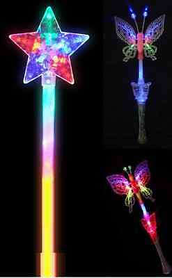 Led Flashing Fairy Butterfly Star Wand Light Up with Music XMAS PARTY GIFT