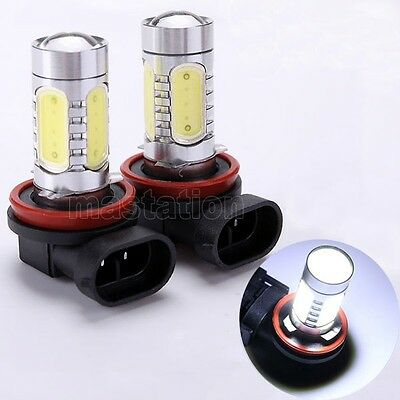 2X H8 H9 H11 White 7.5W High Power Car Auto LED Day Driving Fog Light Lamp Bulb