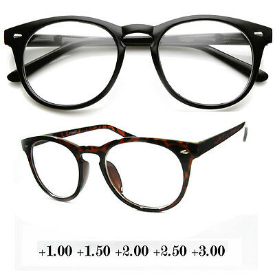New Unisex Round Fashion Vintage Blended Line Bifocal Reading Glasses Eyeglasses