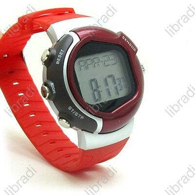 Calorie Counter Pulse Heart Rate Monitor Stop Watch C-Red