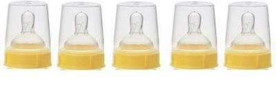 Medela wide - base Slow Flow Nipple Set ( Nipples + collar ring + cap ) Genuine.