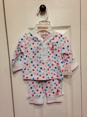 Baby Girl Juicy Couture 2 Piece Outfit Size 0-3 Mths. Nwt