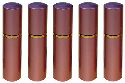Lot Of Five (5) Lipstick Pepper Spray Pink