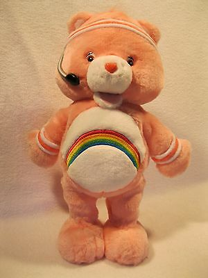 """Care Bear Fit' n' Fun """"Cheer"""" Bear Workout Plush Talks Sings 2004~See Our Video!"""