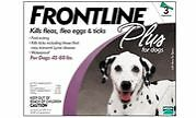 Frontline Plus For Dogs 45 - 88 lb Flea Tick 6 month Charity