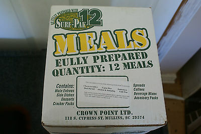 2 Full Cases of Sure Pac 12 MRES Menu #1 -GREAT FOR CAMPING OR HUNTING SEASON