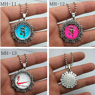 2015 NEW 3pcs Browning Deer Necklace Photo Alloy Necklaces & Pendants  /10