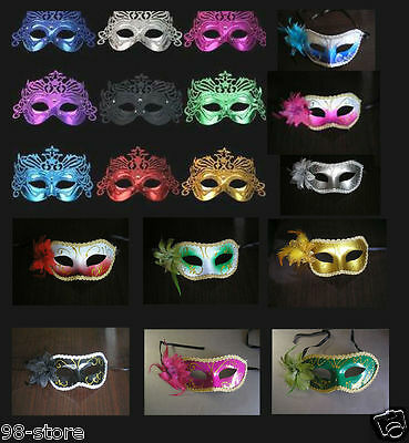 New Rose Opera Venetian Costume Masquerade Cosplay Fancy Ball Party Mask